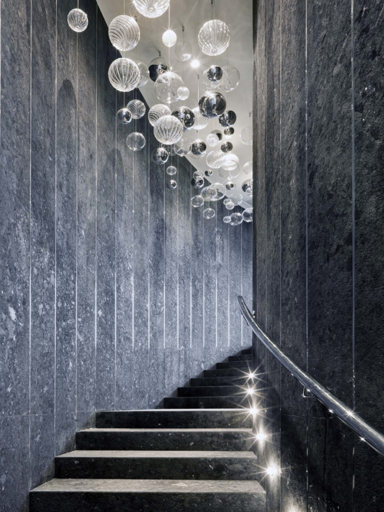 Spa swimming pool staircase