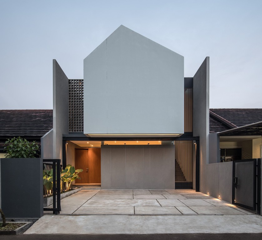 Ruangrona Architects Designs Modern House In West Java With Dense Facade And Skylights De51gn